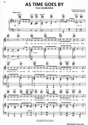 Print And Download For Free As Time Goes By Piano Piano Sheet