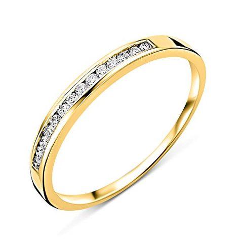 14k or Jaune Lunette Set cubique zircone Band Ring