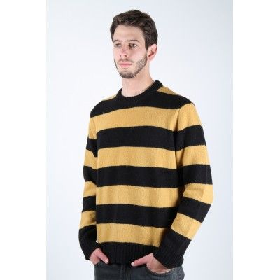 Levi's Vintage 1960's Yellow and Black Stripe Crew Knit Sweater ...
