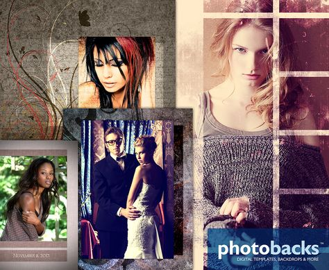 Sample projects using Photobacks Textures, Photoshop Templates and Digital Backgrounds ~ See more at: www.photobacks.com