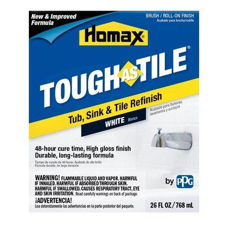 Homax 3158 26 Oz White Tough As Tile Tub Sink Tile Refinish