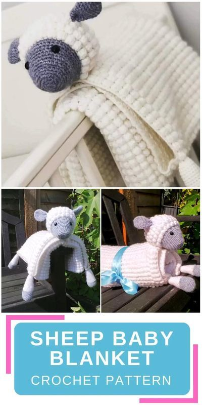 Sheep Baby Blanket | Crafting Happiness