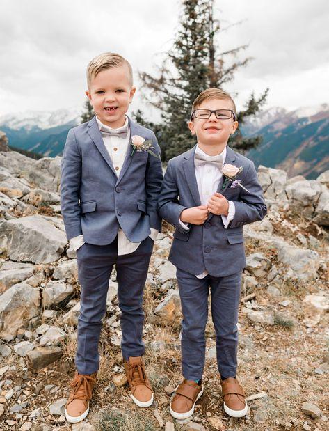 A Dreamy + Misty Mountaintop Wedding in Aspen - Green Wedding Shoes Wedding Outfit For Boys, Wedding With Kids, Wedding Ideas, Fall Wedding Attire, Boys Wedding Suits, Wedding Poses, Wedding Outfits, Wedding Decor, Wedding Stuff