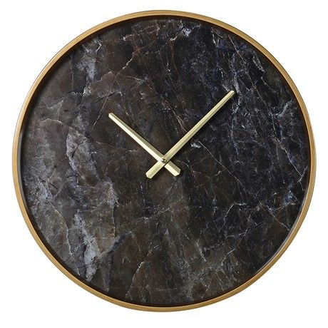 Black Marble Effect Wall Clock From Coach House Only 39 99 Clock Interiordesign Fashion Homedecor Homedecoridea Wall Clock Marble Clock Chic Wall Clock