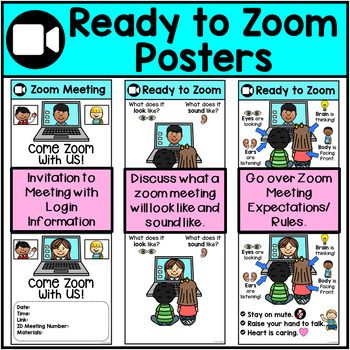 These Simple Posters Will Help You Teach Your Zoom Class Expectations To Your Remote Kiddos Post Learning Poster Digital Learning Classroom Distance Learning