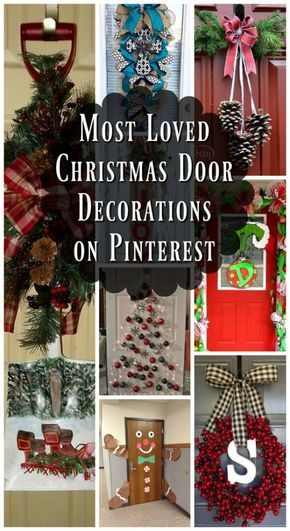 christmas,door,decorating,ideas,pinterest