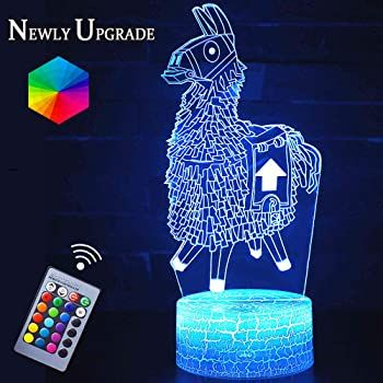 Fortnite 3d Led Light With Remote Control In 2020 3d Night Light Table Lamp Base Lamp Bases