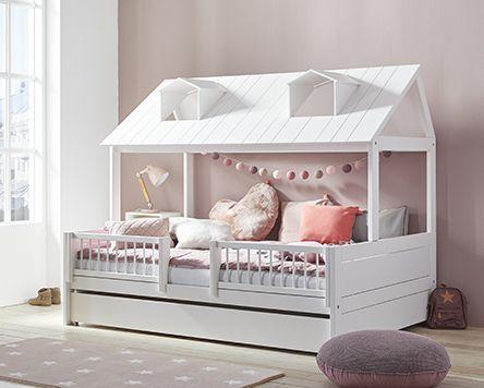 Beachhouse Strandhuis Houten Huis Wit Slaaplade Hekje Rond Bed 120 Cm X 90 Cm K Childrens Bedroom Furniture Childrens Bedroom Furniture Sets Kid Beds
