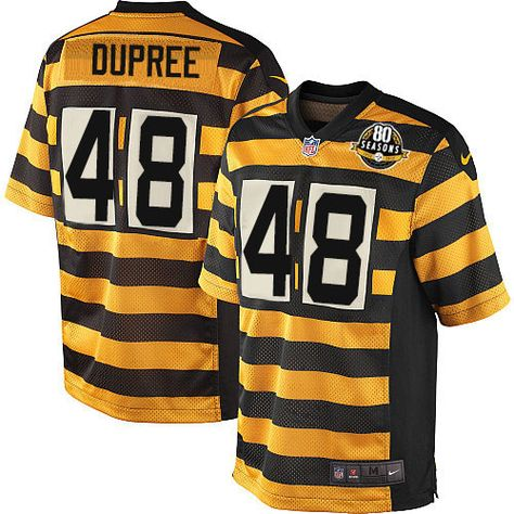 Hot Women's Pittsburgh Steelers #48 Bud Dupree Black Stitched Nike NFL Home Elite Jersey  free shipping
