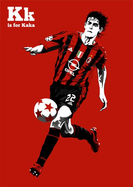 Part Of My F Is For Football Project As You Ve Probably Already Guessed It S Going To Be An Illustrative A Z Featuring Ac Milan Milan Football Soccer Poster