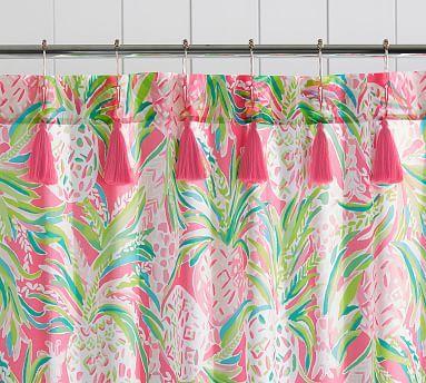 Lilly Pulitzer Alotta Colada Shower Curtain Pineapple Shower