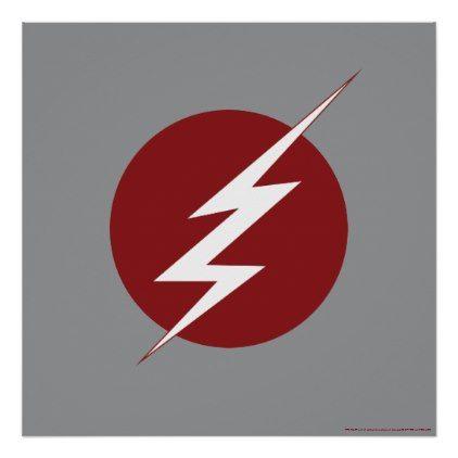 The Flash Lightning Bolt Logo Poster Zazzle Com Lightning