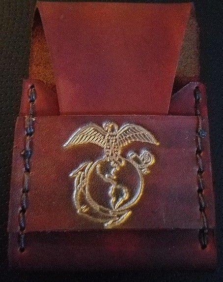 USMC  US MARINE CORP LOGO BUSINESS CARD HOLDER CASE NEW