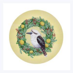 Kookaburra Ceramic Plate Christmas Decorations Australian Australian Christmas Ceramic Plates