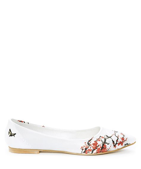 Multi-coloured blossom ballet flats Sale - StreetFly