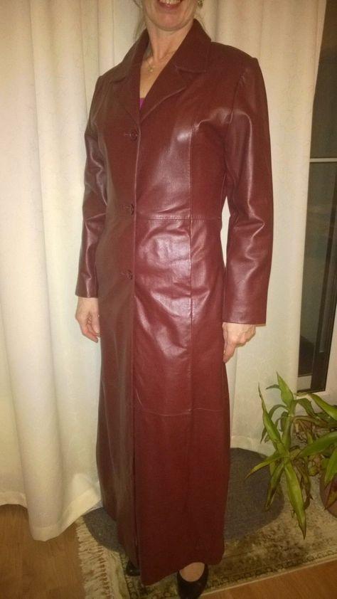 Mantel, Ledermantel, echtes Leder, Gr. S, 36-38, Bordo, Dunkelrot | eBay