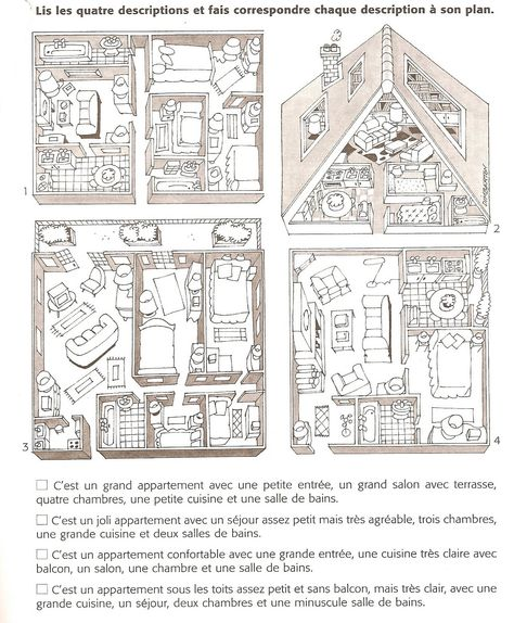 Une idée d'activité autour du lexique de la maison et des meubles à adapter selon la langue d'apprentissage.