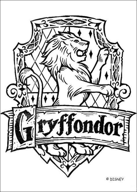 Coloriage Harry Potter Le Blason De Gryffondor Harry Potter