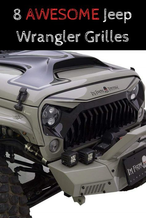 Aftermarket Jeep Wrangler Grille Styles In 2020 Jeep Wrangler