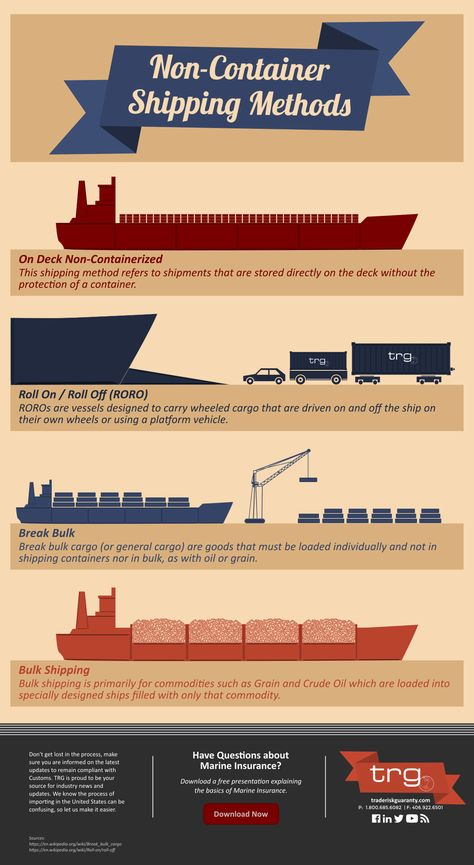 [Infographic] Discover shipping methods that do not use traditional containers during international trade.