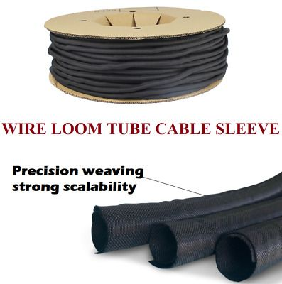 Split Braided Cable Cover Sleeving Wiring Loom Harnessing Sheathing Guarding Lot In 2020 Cable Cover Cord Protector Sheathing