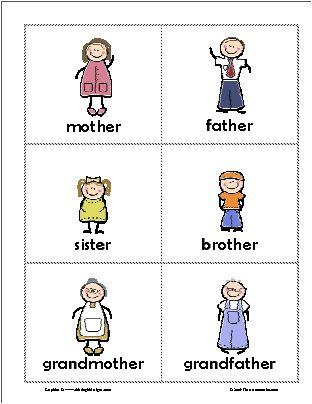 Pin On English Activity Preschool kindergarten family members
