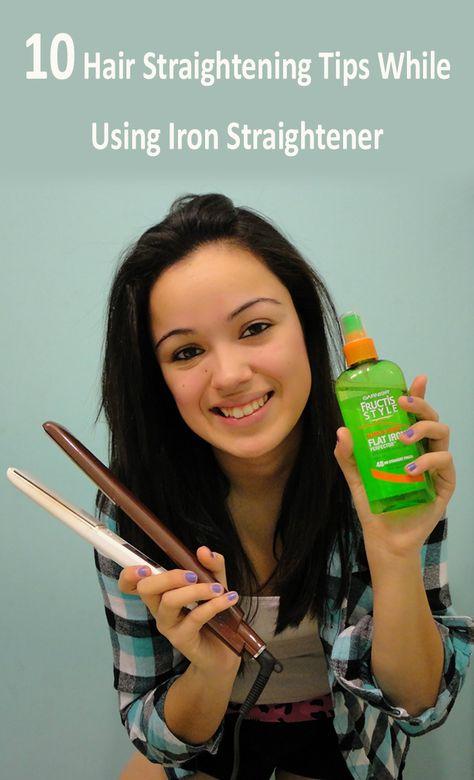 10 Hair Straightening Tips While Using Iron Straightener