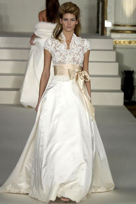 Take a walk down memory lane with Monique Lhuillier and her bridal style evolution throughout the past twenty years.