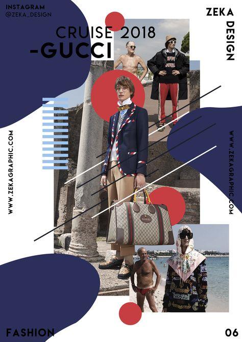 Creative Graphic Design Poster Gucci Fashion Collection 06 Zeka Design