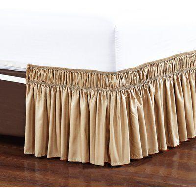 De Moocci Easy Wrap Platform Free Dust Ruffle 16 Bed Skirt In