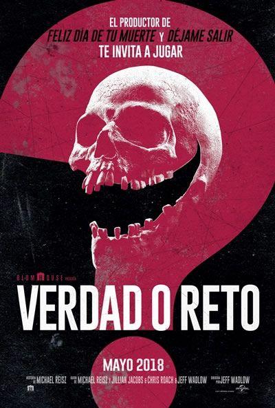 Poster De Verdad O Reto Truth Or Dare Verdad O Reto Verdad Y Reto Peliculas De Terro