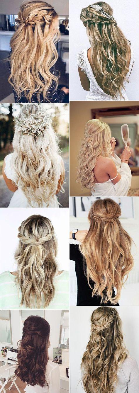 trending elegant half up half down wedding hairstyles