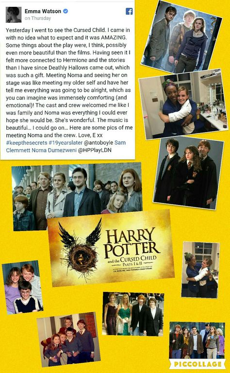 so excited :) HARRY POTTER AND THE CURSED CHILD, HOORAY!!!!! #keepthesecrets #19yearslater