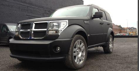 Car Wrap Dodge Nitro in matt Black  Reclame op voertuigen