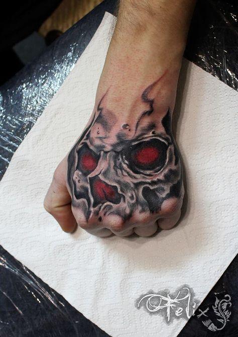 Skull Tattoos For Men Tattoo Ideas Gallery Designs 2017 For Hand Tattoos For Guys Skull Sleeve Tattoos Hand Tattoos