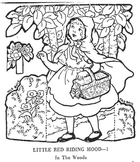 mostly paper dolls little red riding hood junior editors