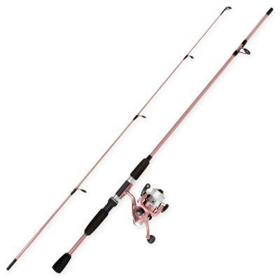 Wakeman Spinning Rod And Reel Combo Fishing Rod In Rose Pink Rod Reel Fishing Rods Reels Fish