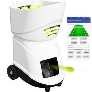 Vevor Portable Tennis Ball Machine Ts 06 Training W App Remote Control Upgraded In 2020 Tennis Ball Machines App Remote Tennis Ball