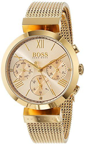 Hugo Boss Damen Analog Quarz Uhr Mit Edelstahl Armband Boss Damen Edelstahl Armband Damenuhren