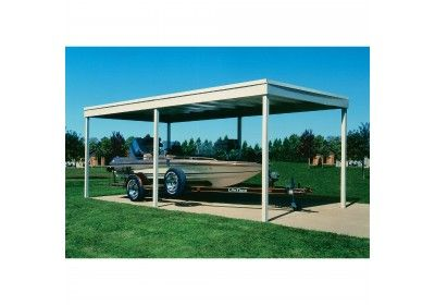 Arrow Freestanding Carport Patio Cover 10x20 Hot Dipped Galvanized Steel With Vinyl Coating Eggshell Finish Flat Roof Carport Patio Shed Roof Design Flat Roof Shed