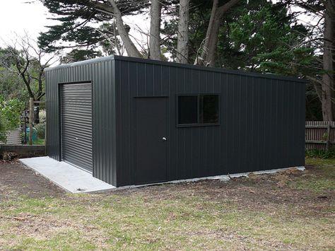 6m X 6m X 3m Skillion Shed Garage Design Modern Garage Backyard Storage Sheds