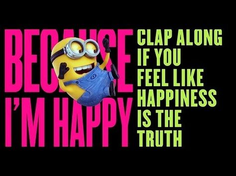 """Happy"" Music Video  four minute instant dance party Minion happy"