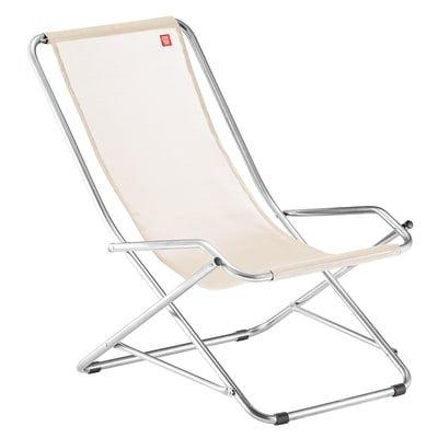 Sedie Sdraio Pieghevoli Alluminio.Sedia A Sdraio Pieghevole Swing In Alluminio Naturale Dondolo