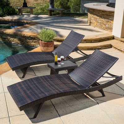 Found It At Wayfair   Halulu 3 Piece Chaise Lounge Set | Pool | Pinterest |  Chaise Lounges, Backyard And Patios