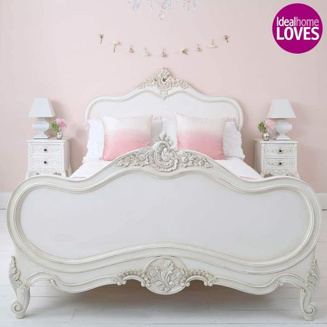 Provencal Louis XV White Luxury French Bed by The French Bedroom Company