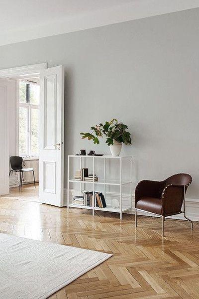 Herringbone Pattern Open Living Room Grey Walls Living Room Rugs In Living Room