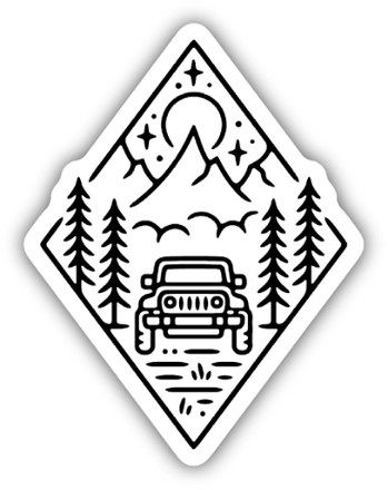 Stickers Northwest Outdoor Jeep Scene Sticker | REI Co-op