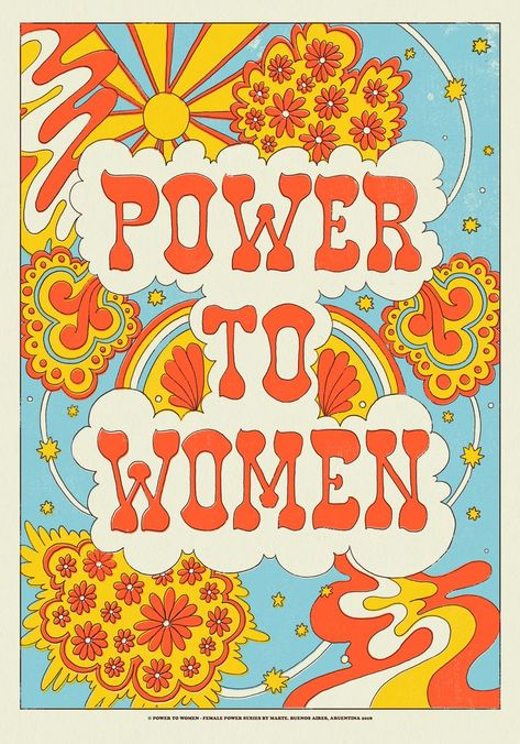 poster Power to women - Female Power by Marte Bedroom Wall Collage, Photo Wall Collage, Picture Wall, Collage Art, Bedroom Decor, 70s Bedroom, Bedroom Ideas, Room Posters, Poster Wall