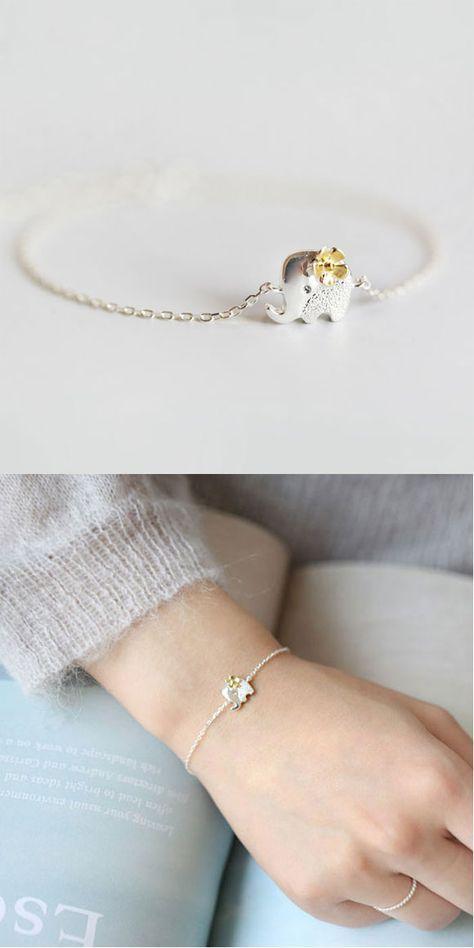 Cheap Fresh Yellow Flower Silver Cute Elephant Bracelet For Big Sale!Fresh Yellow Flower Silver Cute Elephant Bracelet is a cute accessories.