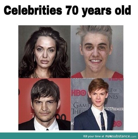Celebrities when their 70 years old